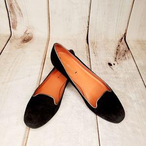 VIA SPIGA Black Suede Ballet Flats 8 1/2M